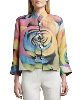Caroline Rose Big Flower Jacket, Women's
