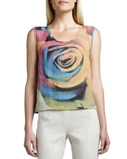 Caroline Rose Big Flower Shell, Women's