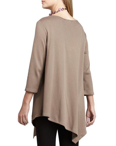 3/4-Sleeve Asymmetric Tunic