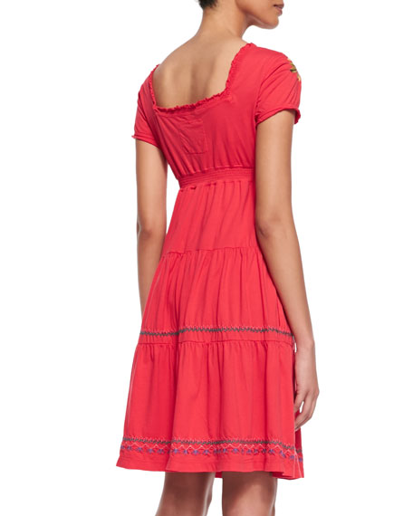 Flora Tiered & Embroidered Dress, Women's