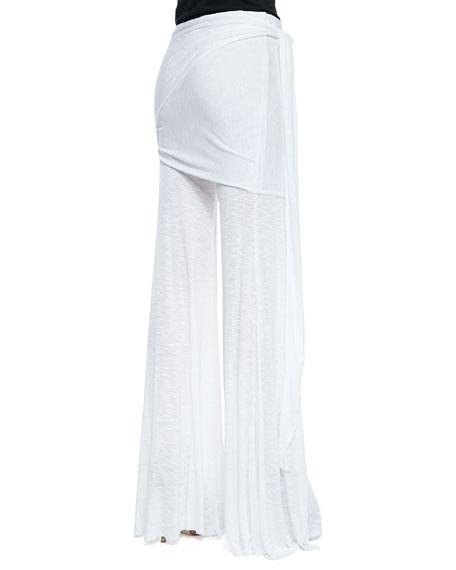 Marina Fold-Over Side-Tie Pants