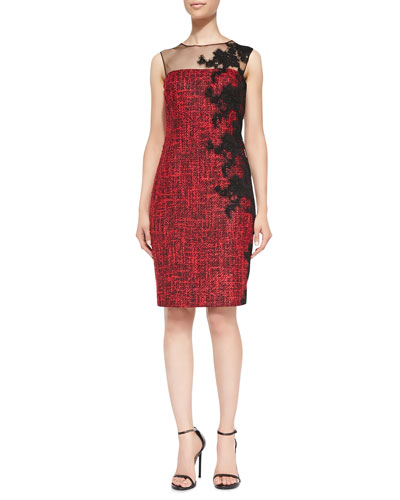 Rickie Freeman for Teri Jon Lace-Side Cocktail Dress