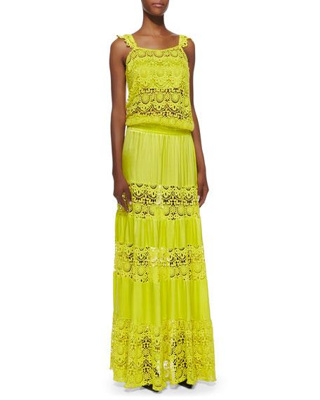 Majorca Dress With Wildflower Crochet