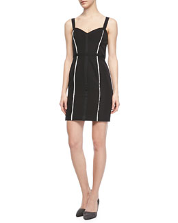 Rebecca Minkoff Joy Sheath Dress with Two Stripes