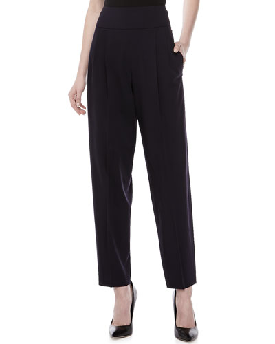 Donna Karan Wool-Blend Stretch Trousers, Ink