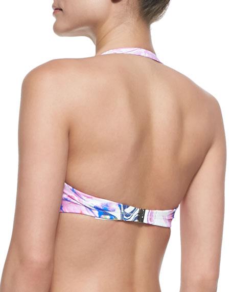 Lollypop Printed Pushup Bikini Top