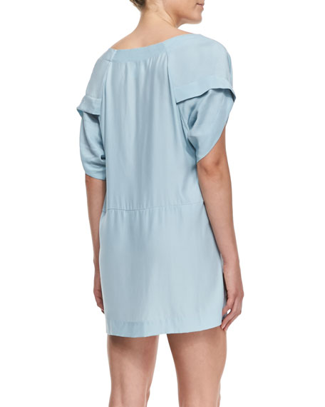 Insomnia Crepe Boat-Neck Dress