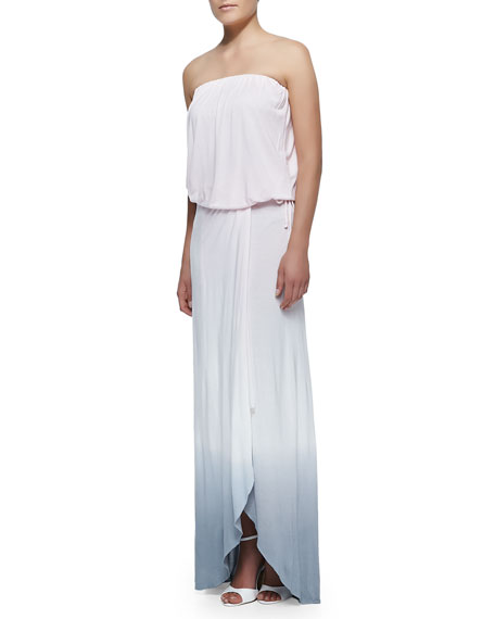 Grayson Drawstring Ombre Slub Maxi Dress