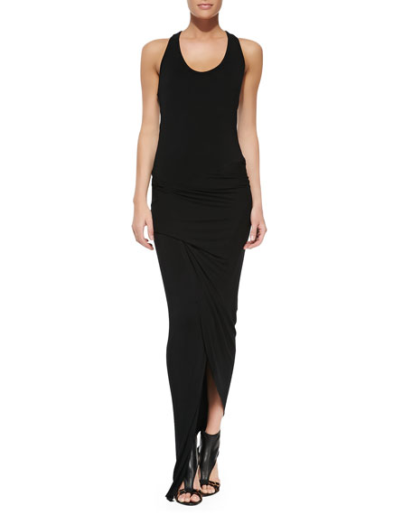 Sassy Jersey Ruched Maxi Dress