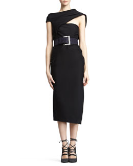 Donna Karan Asymmetric Body Dress