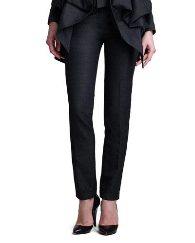 Donna Karan Narrow Cuffed Pants, Charcoal