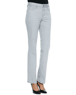 Christopher Blue Madison Carmel Twill Straight-Leg Jeans