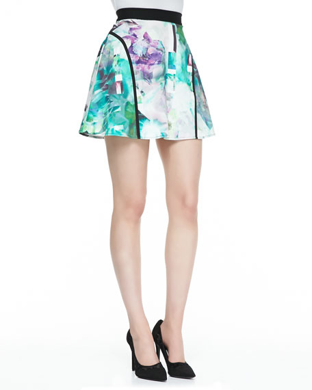 Whimsical Waves Jersey Printed Skirt