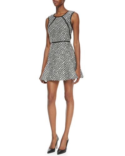 Kelli & Talulah Evening Sun Jersey Fit-and-Flare Dress