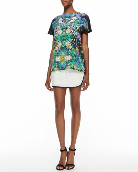 Love Blaze Silk Lace Skirt