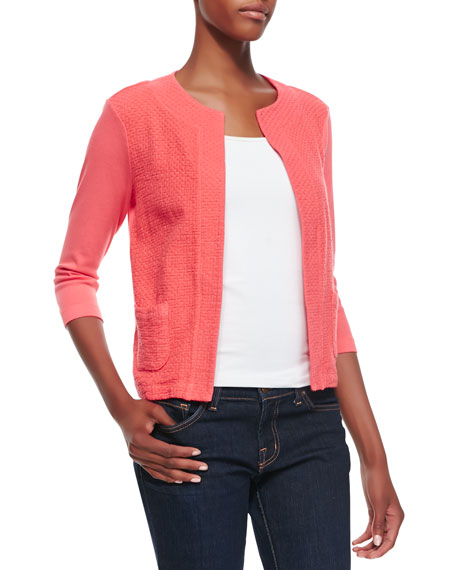 Two-Textured Boxy Jacket