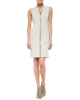 T Tahari Mirir Sleeveless Zip-Front Dress