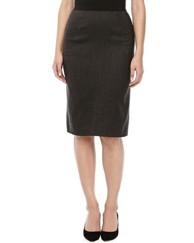 Donna Karan Pencil Skirt with Knife Pleats