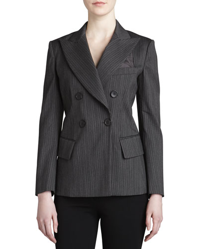 Donna Karan Double-Breasted Striped Jacket