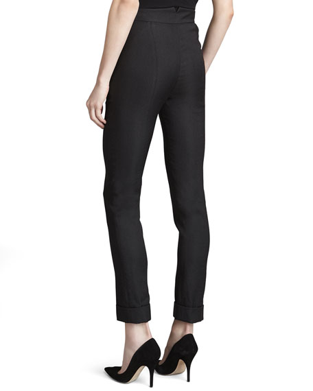 High-Waist Ankle Pants, Anthracite