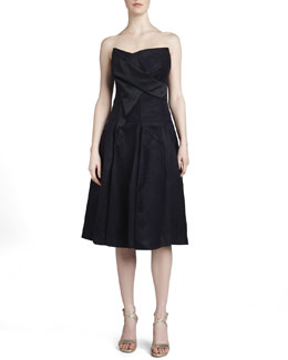 Donna Karan Strapless Sculpted Bustier Dress