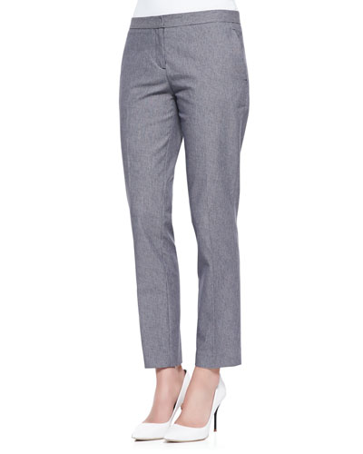 Theory Item Cropped Houndstooth Suit Pants