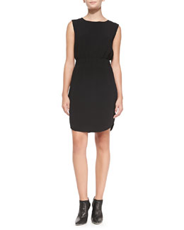 Theory Ballia Register Sleeveless Ponte Dress