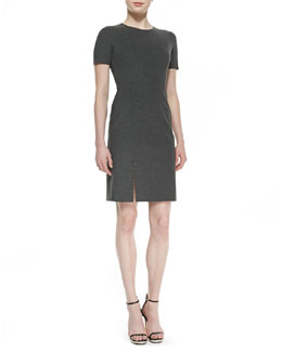Theory Winstine Refiner Short Sleeve Ponte Dress