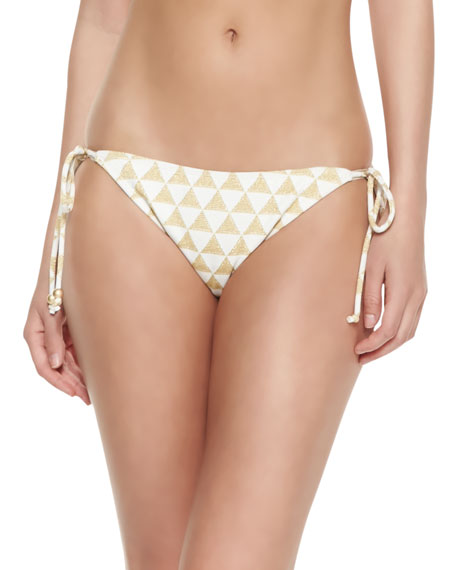 Palm Desert Triange-Print Swim Bottom