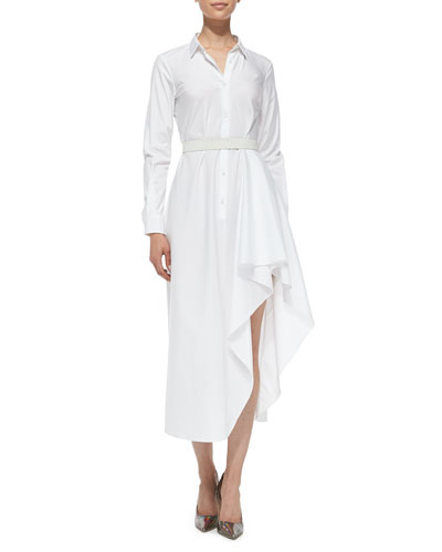 Theory Diaz Poplin Runway Long-Sleeved Dress