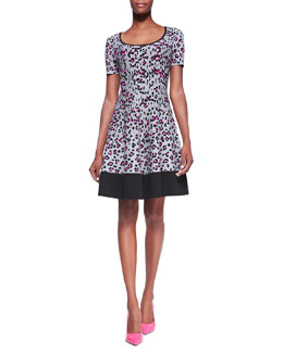 kate spade new york cyber leopard & cheetah-print sweater dress