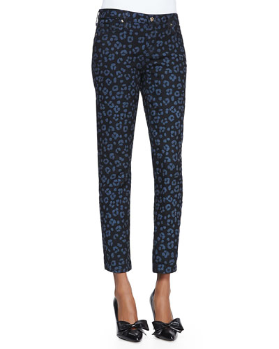 kate spade new york cyber cheetah broome stretch denim pants