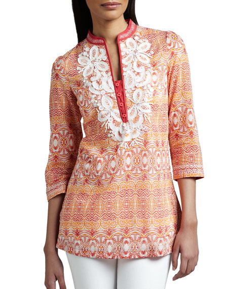 Indikka Embellished Cotton Tunic