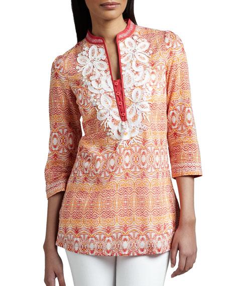 Embellished Cotton Tunic