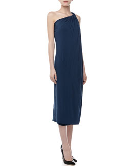 Donna Karan Twisted One-Shoulder Dress