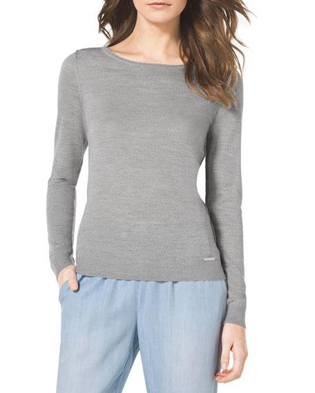 Long-Sleeve Boat-Neck Sweater