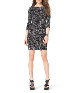 MICHAEL Michael Kors  Slim Printed Jersey Dress