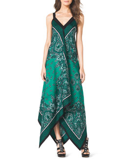 MICHAEL Michael Kors  Scarf-Print Silk Dress