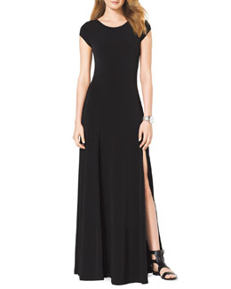 MICHAEL Michael Kors  Cap-Sleeve Slit Maxi Dress