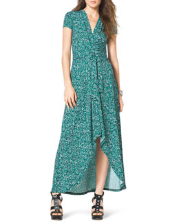 MICHAEL Michael Kors  Printed High-Low Maxi Dress