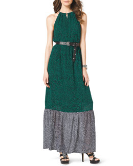 MICHAEL Michael Kors  Two-Tone Jersey Maxi Dress