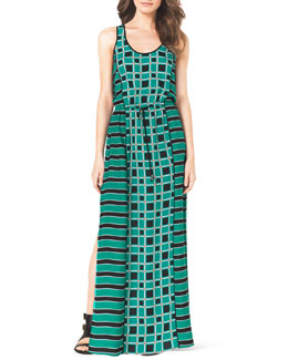 MICHAEL Michael Kors  Soho Square Printed Maxi Dress