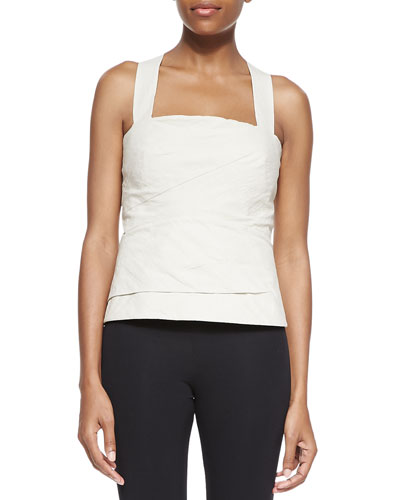 Donna Karan Bonded Bustier With Jersey Back