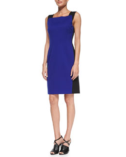 T Tahari Torrence Sleeveless Colorblock Sheath Dress