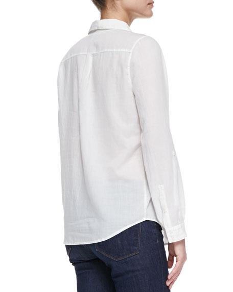 Millicent Sheer Cotton-Voile Blouse