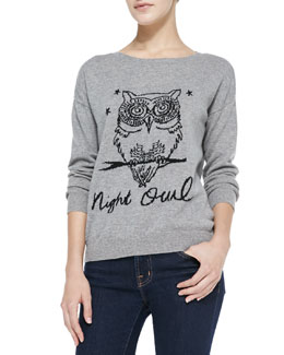 Joie Eloisa Nightowl Knit Scoop-Neck Sweater