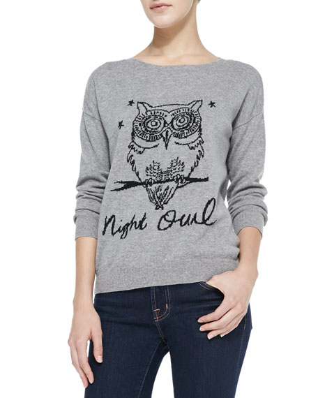Eloisa Nightowl Knit Scoop-Neck Sweater