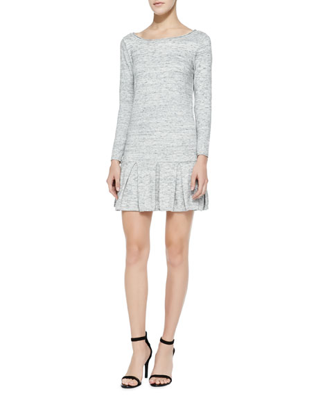 Tala Drop-Skirt Cotton Slub Dress