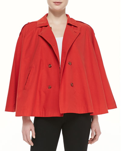 Joie Rosamonde Twill Jacket, Dark Spicy Orange