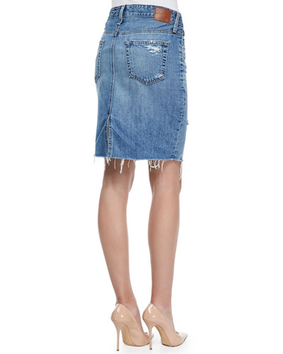 ag adriano goldschmied erin 16 years ascension denim skirt